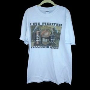 Fire Fighter Shirt Standard Issue Graphic Large